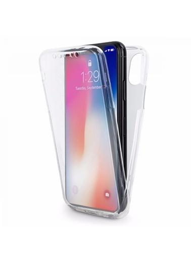 Microsonic iPhone X Kılıf 6 tarafı tam full koruma 360 Clear Soft  Renksiz